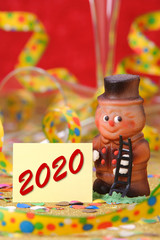 Happy new year 2020 with sweet lucky charm