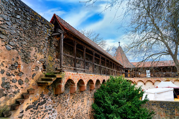 Part of the ronneburg fortress wall in Ronneburg, Germany