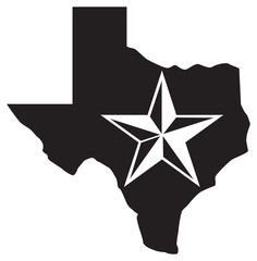 Texas map and star (Lone Star State design)