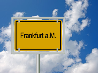 Frankfurt am Main, Ortsschild, Ortstafel