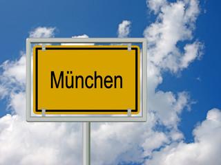 München, Ortsschild, Ortseingangsschild