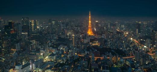 Tokyo skyline by night