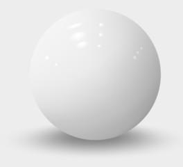 Obraz White realistic sphere isolated on white. White realistic ball - fototapety do salonu