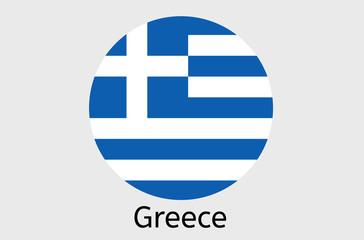 Grecian flag icon, Greek country flag vector illustration