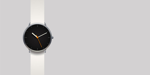 modern classic watch on grey background Wall mural