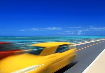 沖縄 宮古島から伊良部島へ 伊良部大橋をドライブ