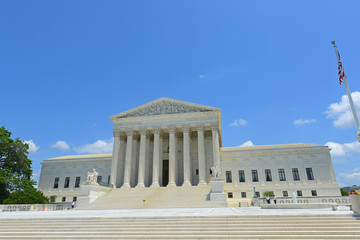 United States Supreme Court Building in Washington, District of Columbia DC, USA.
