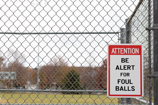 baseball foul ball sign