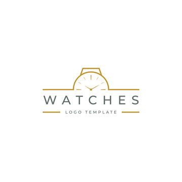 Watches frame logo design template