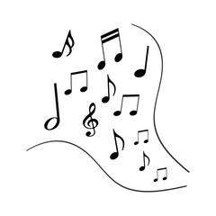 流れる音符