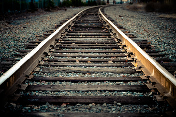 Photo sur Aluminium Voies ferrées Train track