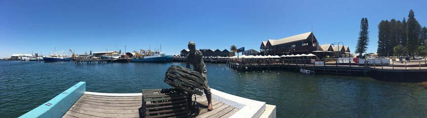 Fremantle Fishing Boat Harbour in Perth Western Australia