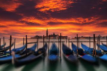 Papiers peints Gondoles Venice gondolas on San Marco square, Venice, Italy.