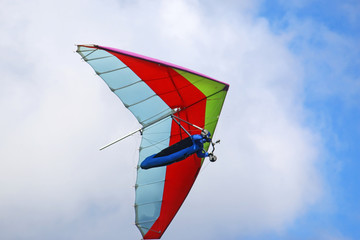 Wall Mural - Hang glider flying