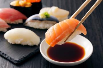 Foto op Aluminium Sushi bar 寿司 Sushi. Japanese food