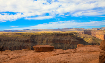 Daytime view of the South Rim of the Grand Canyon National Park in Arizona Fototapete