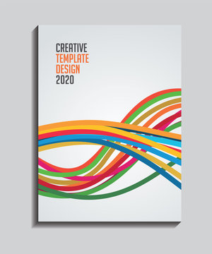 Creative Brochure, magazine, book Cover page design template. Poster, banner, flayer for your business.