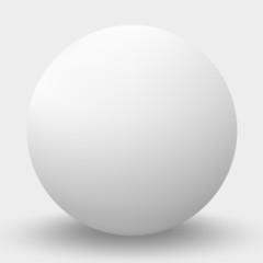 Obraz White sphere isolated on white. Vector illustration. - fototapety do salonu
