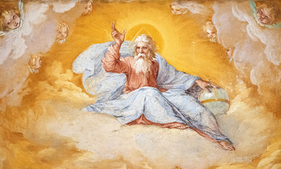 Painted divine figure church of San Sebastiano Rome