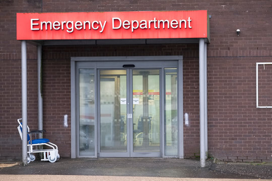 Emergency and Accident Department entrance at Hospital London UK