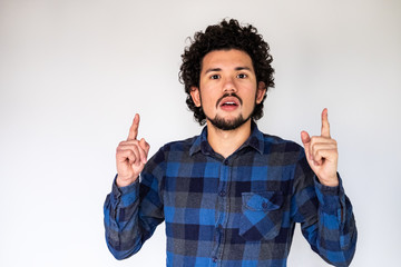 Latin American man, have idea expression