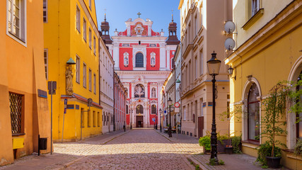 Self adhesive Wall Murals Old building historic street in Poznan in the old town