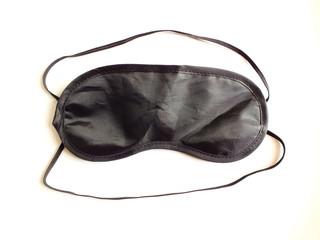 Black sleeping eye mask Realistic sleeping for relax on white background.