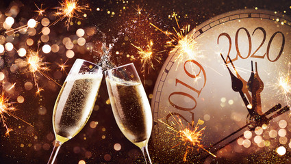 New Years Eve celebration background Fototapete