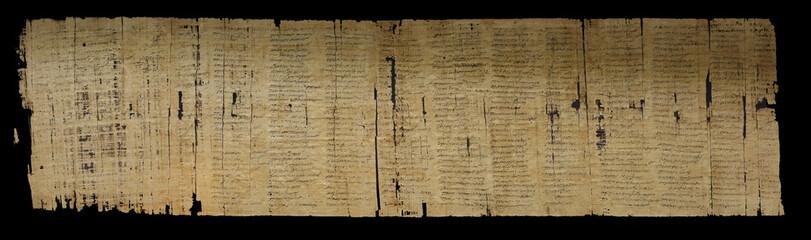 Cursive writing on papyrus