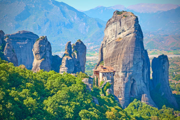 Cliffs of Meteora withThe Monastery of Roussanou