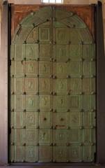 Original bronze door of west portal  of Trani Cathedral