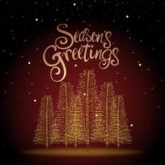 Season's Greetings Christmas Tree