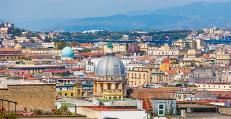 Domes and roofs of Naples, Italy