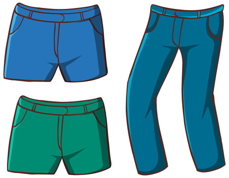 Isolated set of pants