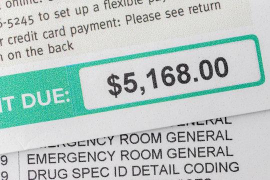 Emergency Room Billing Amount Owed