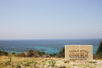 ANZAC Cove the location of the battle of Gallipoli in World War 1