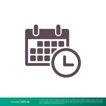 Calendar, Schedule Icon Vector Logo Template Illustration Design. Vector EPS 10.