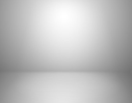 White studio background. Empty gray room, blank product display backdrop with shadow vector indoor 3d template