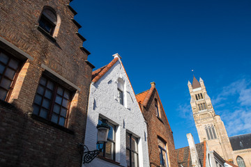 Wall Murals Bridges old houses in brugge