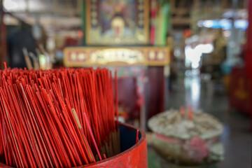 Incense sticks at a shrine