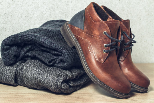 Men's set of clothes and shoes