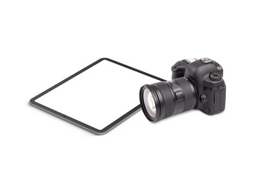 Digital tablet and DSLR camera graphics element