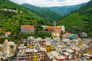 Panoramic view of town Vernazza