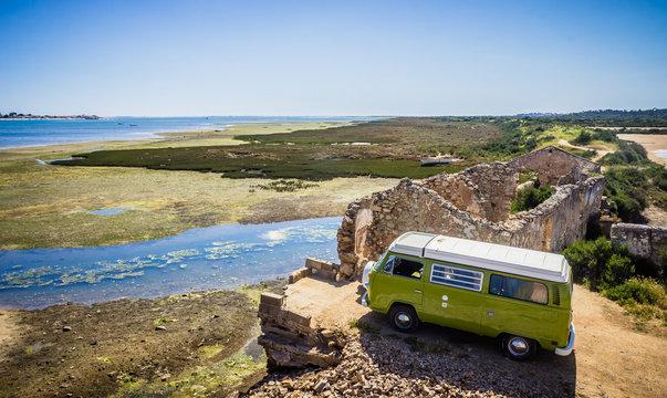 Portugal Algarve Road Trip in a retro campervan - Wild Camping - Europe