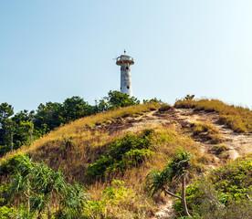 Lighthouse Tropical beautiful beach Mu Koh Lanta National Park Krabi Thailand