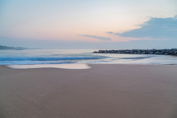 Beautiful tropical beach at sunset or sunrise Low tide