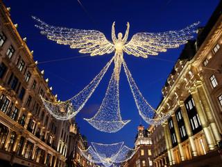 europe, UK, England, London, regent street christmas lights