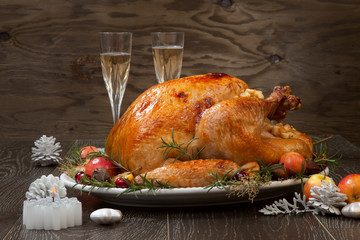 Roasted Christmas Turkey with Grab Apples