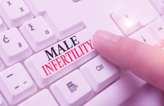 Word writing text Male Infertility. Business photo showcasing the inability to cause pregnancy in a fertile