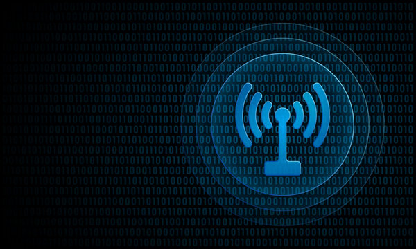 Digital signal with ripples ''Pulse Effect'' technology wireless symbol